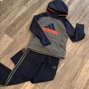 ADIDAS Gray/Blue Outfit Size 10/12 Boys